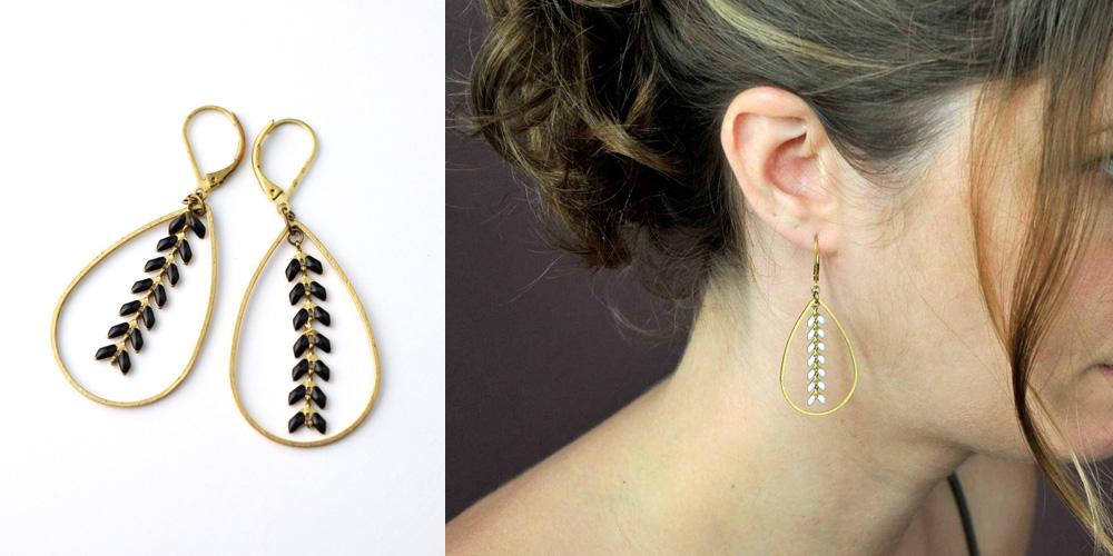 belles boucles d'oreilles fantaisie glamour en ligne