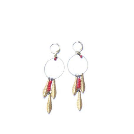 boucles-cercle-petites-plumes-doree-laiton-aaphrodite-rouge