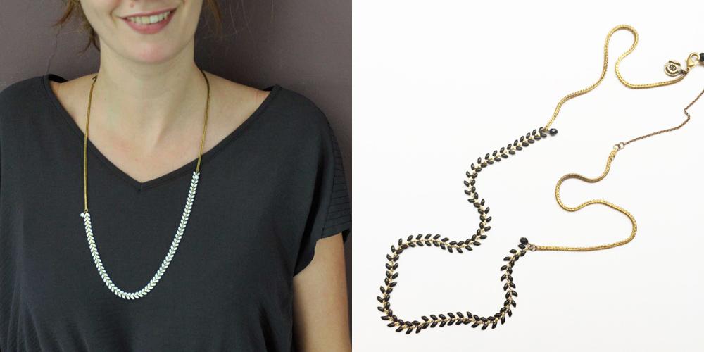collier bracelet headband bijou fantaisie 3 en 1 fait main