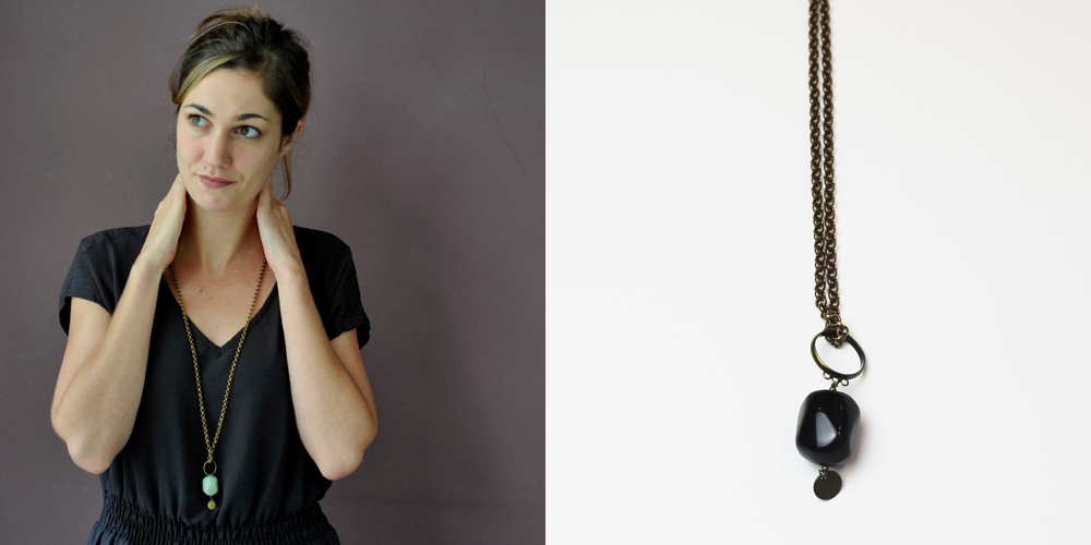 bijoux artisanaux handmade en ligne collier sautoir grosse perle