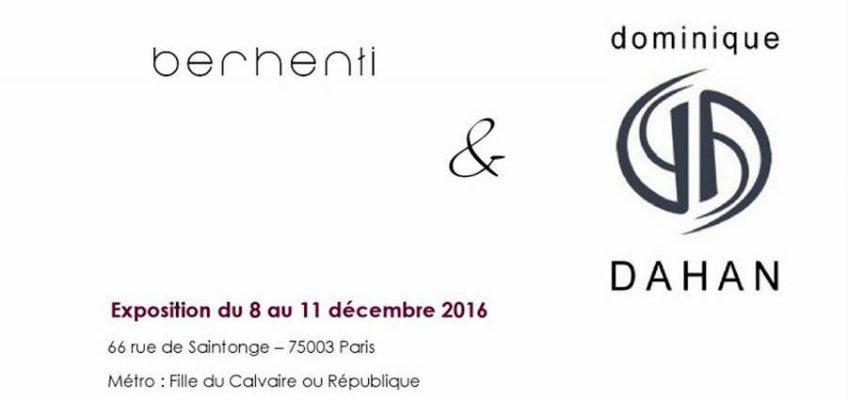 Exposition du 08 au 11 décembre inclus Dominique Dahan Bijoux en collaboration avec Berhenti.