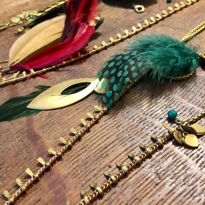 Créations bijoux en cours