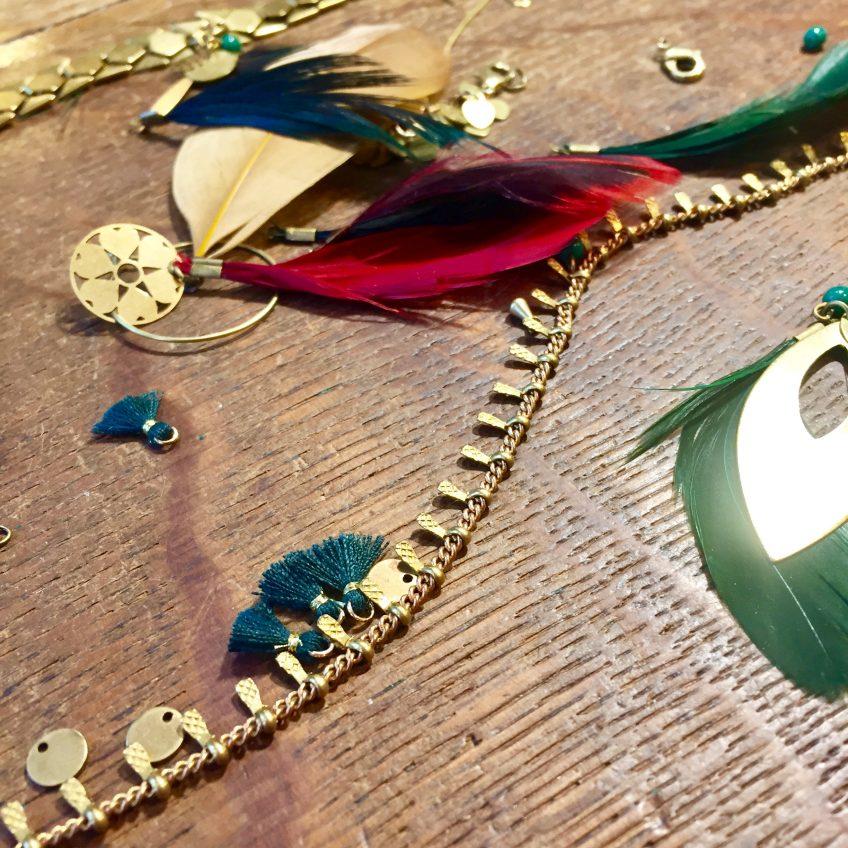 Chut je crée…de nouveaux bijoux en cours de réalisation