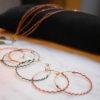 Nouvelle créole IRENEE assortis aux nouveaux bracelets THAIS triple rang et AMAÏA double rang